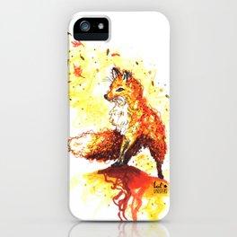 Illustration Renard Automne Orange - Autumn Fox de Lucille Bertrand iPhone Case