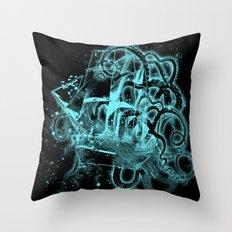 flying dutchman ghost ship Throw Pillow