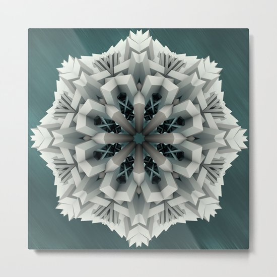 Winter Flakes Metal Print