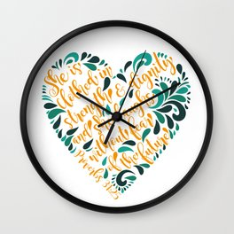 Proverbs 31:25 Wall Clock