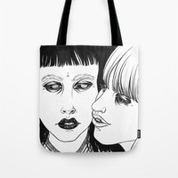 lovers Tote Bags featuring Lovers by Cannibal Malabar