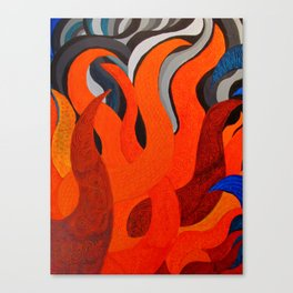 Battle of the Elements: Fire Canvas Print