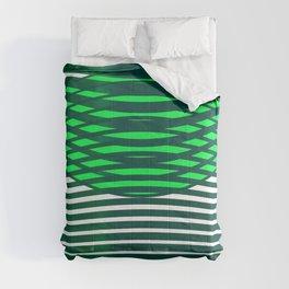 Geometric pattern green modern  Comforters