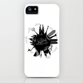 Barcelona World with significant buildings iPhone Case