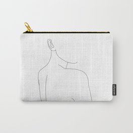 Woman's nude back and shoulders illustration - Alina Carry-All Pouch