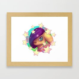 Pastel Gore Trippy star deer Framed Art Print