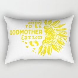 Womens Sunflower Soon To Be Godmother 2021 Baby Announcement Gift T-Shirt Rectangular Pillow