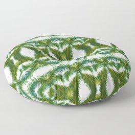 Palm Leaf Kaleidoscope (on white) #2 Floor Pillow