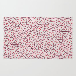 Pink Berry Branches Rug