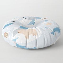 Arctic animals Floor Pillow