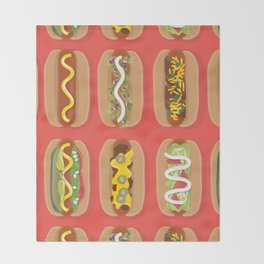 Hotdog! Throw Blanket