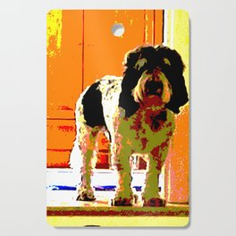 Pup on Stairs Cutting Board