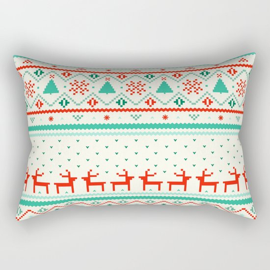Festive Fair Isle Rectangular Pillow