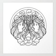 Zodiac Series | Gemini Art Print