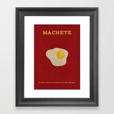 Machete Minimalist Poster Framed Art Print