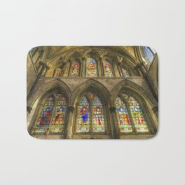 Rochester Cathedral Stained Glass Windows Art Bath Mat