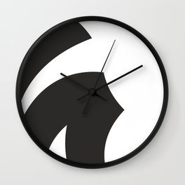 Black and White Minimal Art-III #illustration #draw Wall Clock