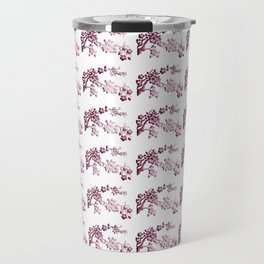 Cherry Blossoms Changeable Background Color Travel Mug
