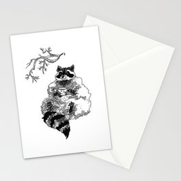 The Fanciest Raccoon Stationery Cards
