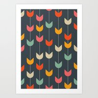 tulips Art Prints featuring Tulips by Tracie Andrews