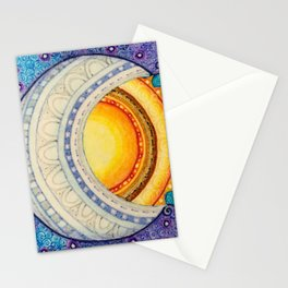 Sun, Moon & Stars Square Stationery Cards
