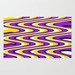 Purple gold white and black slur Rug