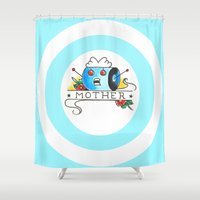 mother Shower Curtains featuring Mother  by Christopher Chouinard