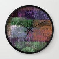 splatter Wall Clocks featuring splatter  by Shonda Robb