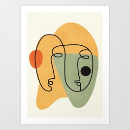 Abstract Faces 19 Art Print