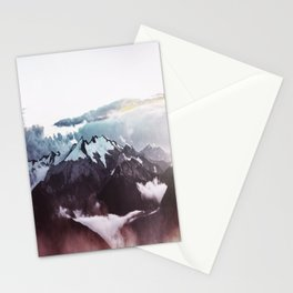 Faded mountain Stationery Cards
