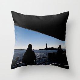 Liberty NYC Throw Pillow