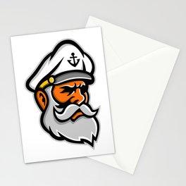 Seadog Sea Captain Head Mascot Stationery Cards