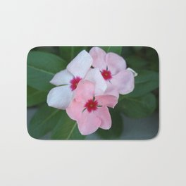 Blooming Beautiful Pink Impatiens Flowers Bath Mat