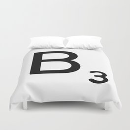 Letter B - Custom Scrabble Letter Wall Art - Scrabble B Duvet Cover