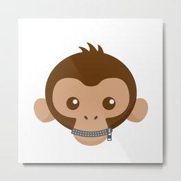 Shut Up Monkey! Metal Print