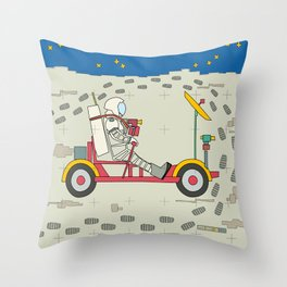 Moon Rover 1971 Throw Pillow