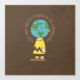Charlie World Canvas Print