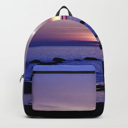 Blue and Purple Sunset on the Sea Backpack