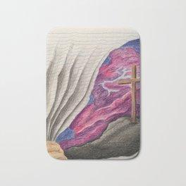 3D Paper Torn Cross Bath Mat