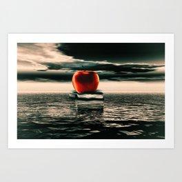 der rote Apfel Art Print