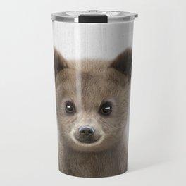 Baby Bear Portrait Travel Mug