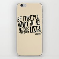 body iPhone & iPod Skins featuring body by smaomao