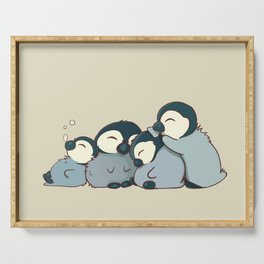Pile of penguins Serving Tray