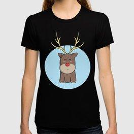 Cute Kawaii Christmas Reindeer T-shirt