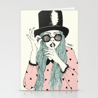 hat Stationery Cards featuring  ''Hat'' by Indi Maverick