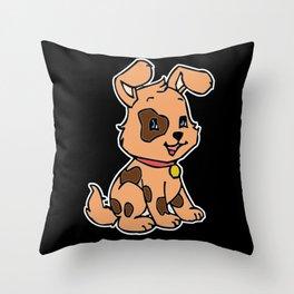 Leopard Spots On Cute Puppy Throw Pillow