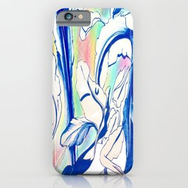 Plant in Blue Marker - Leaf of Life Miracle Leaf - Rainbow Colorful 2 iPhone Case