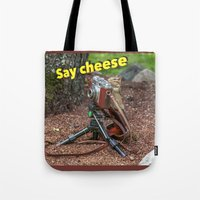 photographer Tote Bags featuring Photographer by Robert Raney