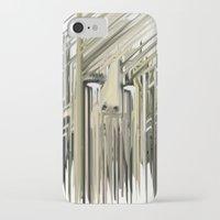 kurt rahn iPhone & iPod Cases featuring Kurt Melting by eyesdrippingink