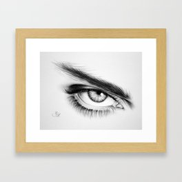 Eye Drawing Framed Art Print